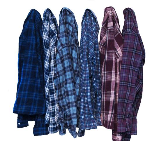 Distressed Oversize Flannel Shirt   Etsy