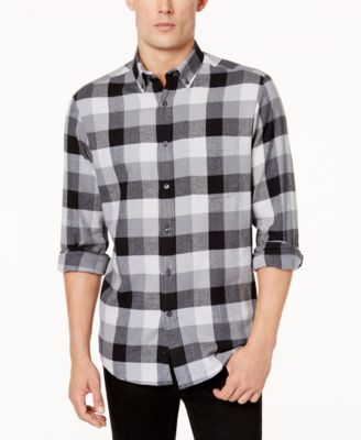 Club Room Men's Flannel Shirt, Created for Macy's - Casual Button