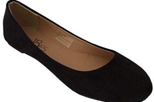 Amazon.com | Shoes 18 Womens Classic Round Toe Ballerina Ballet Flat