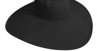 Big Beautiful Solid Color Floppy Hat, Black at Amazon Women's