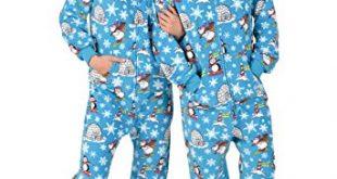 Amazon.com: Footed Pajamas - Winter Wonderland Adult Hoodie Fleece
