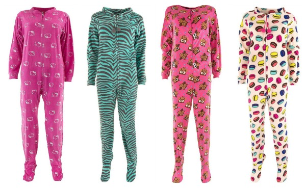 Fun Footed Pajamas for Women - Thrifty Jinxy