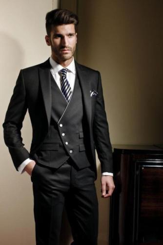 New Business Men Suits Groomsmen Tuxedos Groom Formal Suit Jacket+
