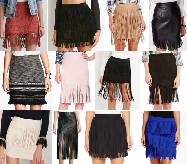 Today's Everyday Fashion: The Fringe Skirt u2014 J's Everyday Fashion