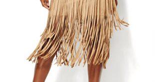 NY&C: Ultra-Suede Fringe Skirt