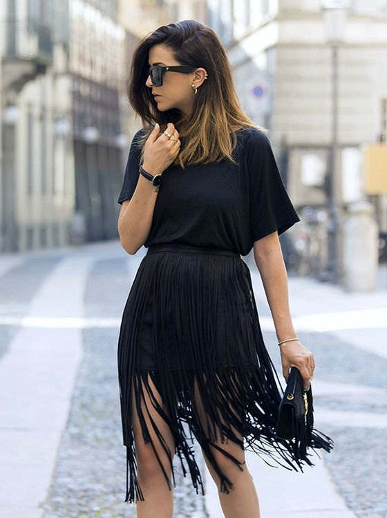 Outfit Ideas With Fringe Skirts 2019 | FashionTasty.com