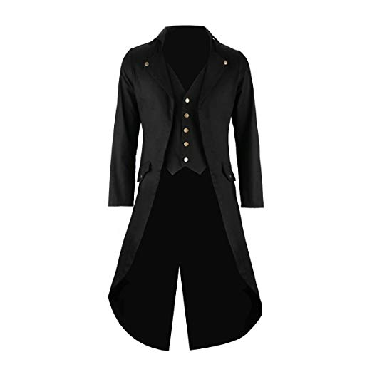 Amazon.com: Mens Black Tailcoat Jacket Gothic Steampunk Victorian