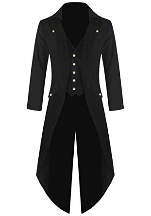 Amazon.com: Ruanyu Men's Steampunk Vintage Tailcoat Jacket Gothic