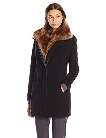Buy the best designer fur   collar coat this winter season
