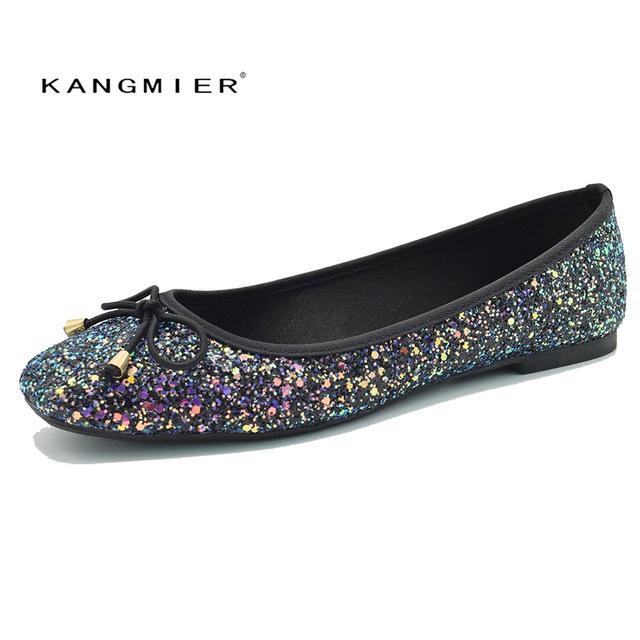 Aliexpress.com : Buy Sequin Glitter Ballet Flat Shoes Women Blue