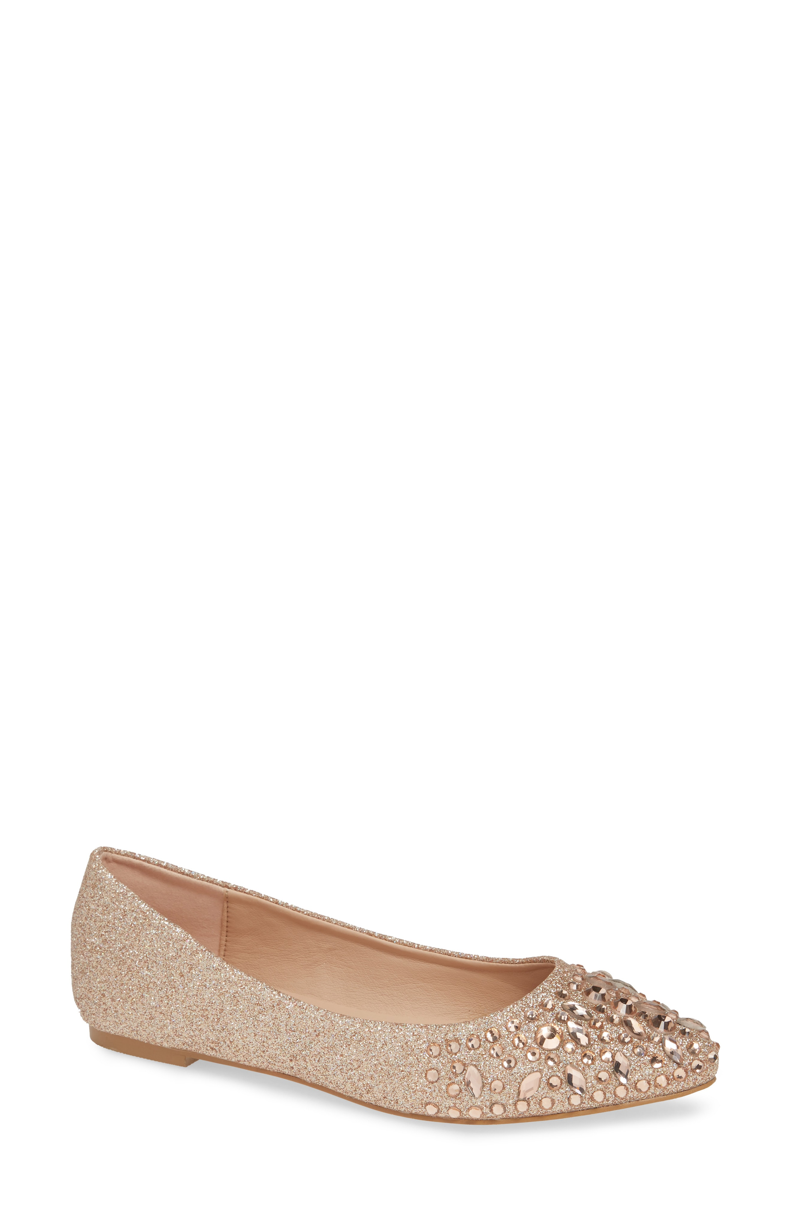 womens rose gold flats | Nordstrom