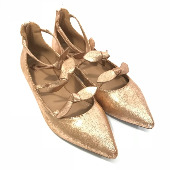 Report Shoes | Rose Gold Flats By Nwot Size 10 | Poshmark