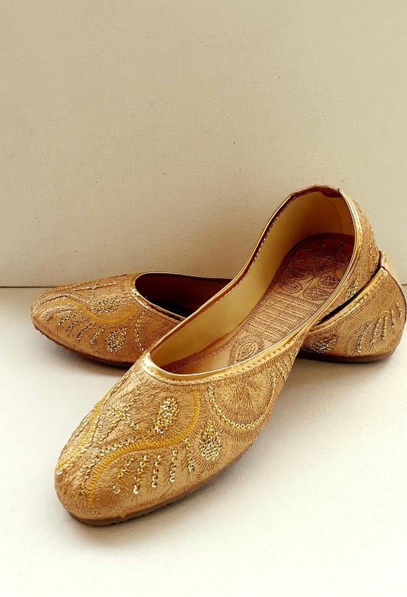 Gold Flats/Wedding Flats/Women Ballet Flats/Women Shoes/Gold | Etsy