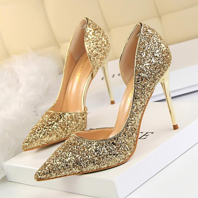 Women Pumps Bling High Heels Women Pumps Glitter High Heel Shoes