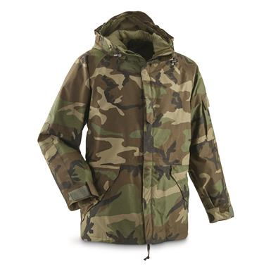 U.S. Military Surplus GORE-TEX Parka, New - 703207, Camo Rain Gear