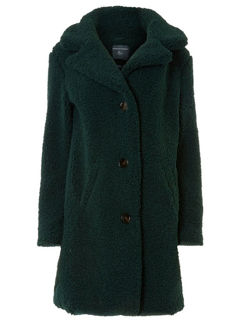 Tall Green Teddy Coat - Dorothy Perkins
