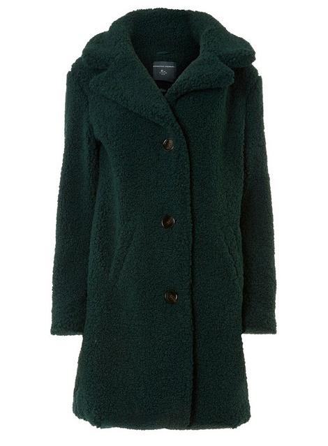Tall Green Teddy Coat - Dorothy Perkins