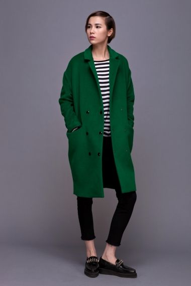 green cocoon coat - $150 | Style | Green wool coat, Fashion, Green coat