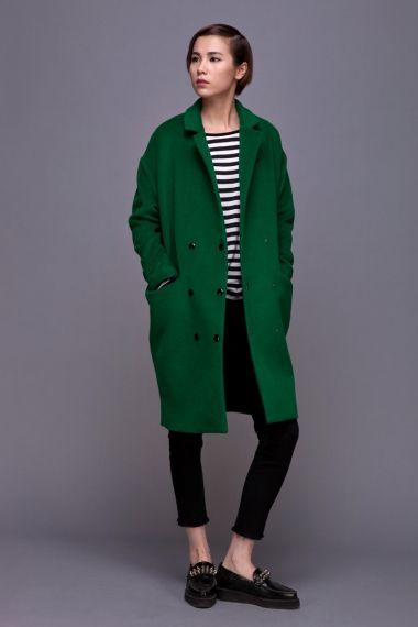 green cocoon coat - $150 | Style | Green wool coat, Fashion, Green coat