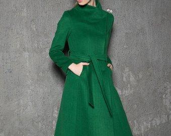 Green coat | Etsy
