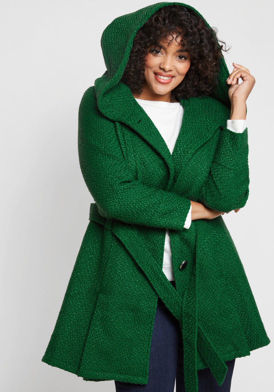 Add new designs to your   personality with green coat