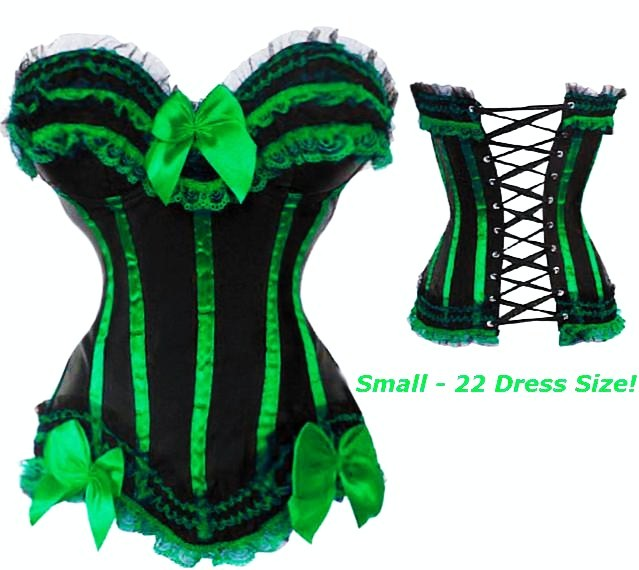 Green corset corset costume emerald plus size green
