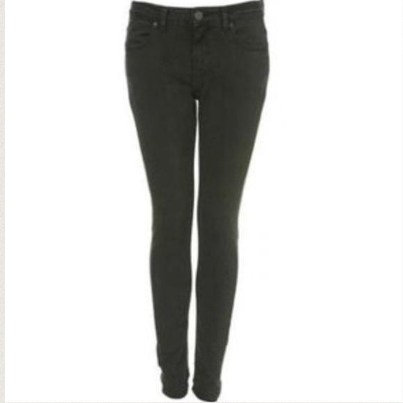 Topshop Jeans | Skinny Dark Green | Poshmark