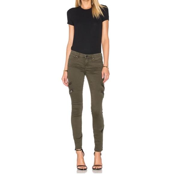 Blank NYC Jeans | Army Green Zipper Skinny Jean | Poshmark