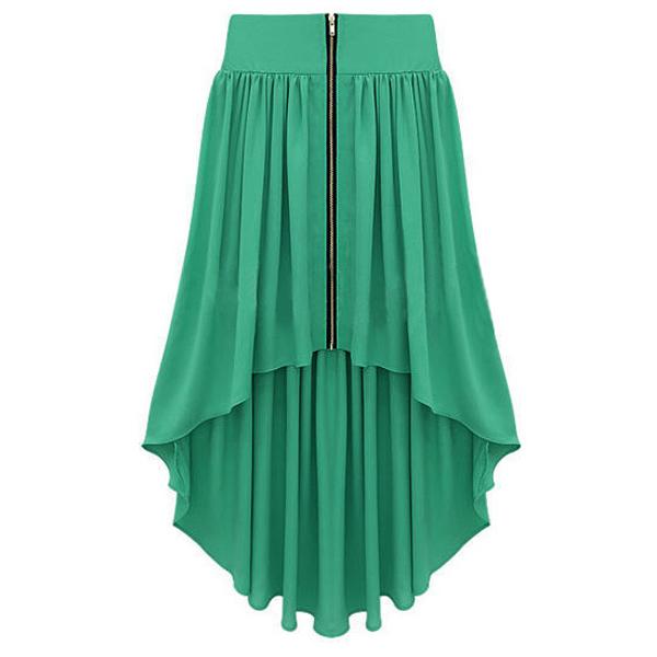 Green Skirt - Bqueen Asymmetrical Maxi Skirt Green | UsTrendy