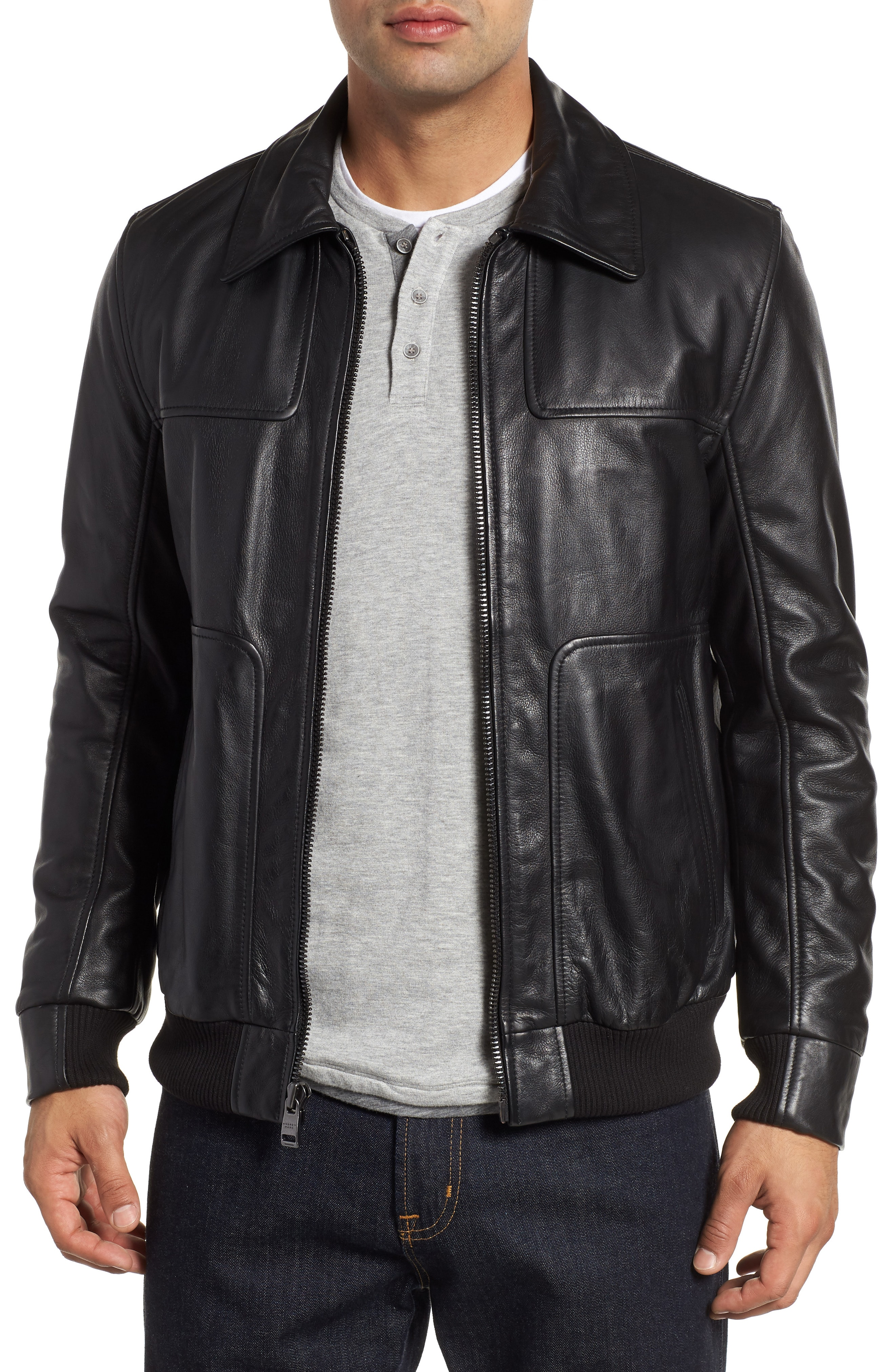 Men's Leather (Genuine) Coats & Jackets | Nordstrom