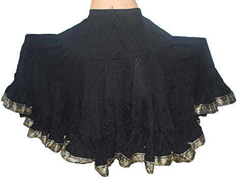 Amazon.com: 25 Yard Tribal Belly Dance Gypsy Skirts for Women (Black