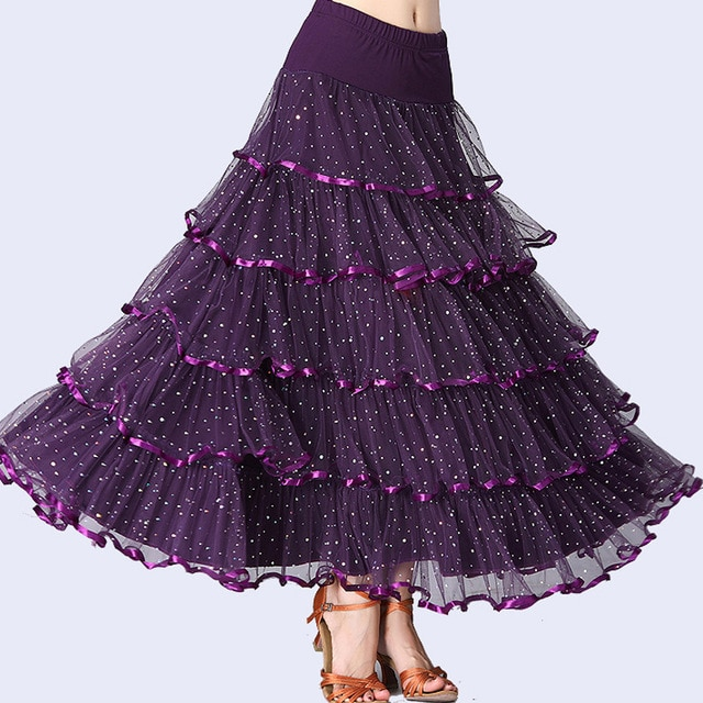 2017 Ballroom Dance Skirts Modern Gypsy Skirt Flamenco Dance