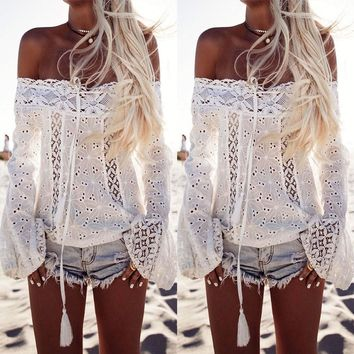 Shop Off The Shoulder Gypsy Tops on Wanelo