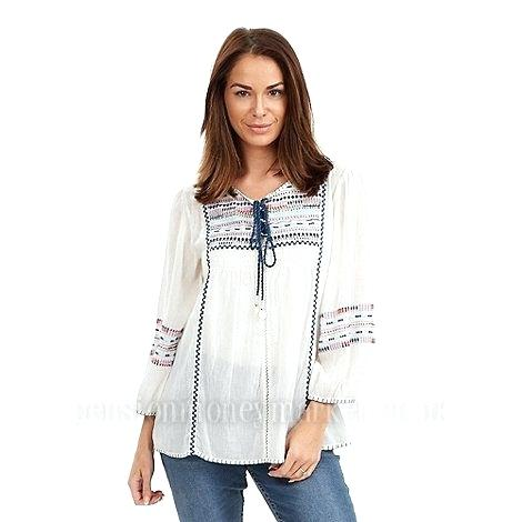 Gypsy Tops Intricate Browns White Chill Out Blouse Clothes For Sale