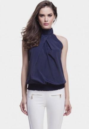 Tops - Navy halter neck top | FabAlong