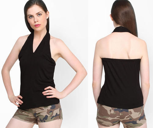 lack V - Neck Halter Neck Top at Rs 149 /piece | Ladies Tops | ID