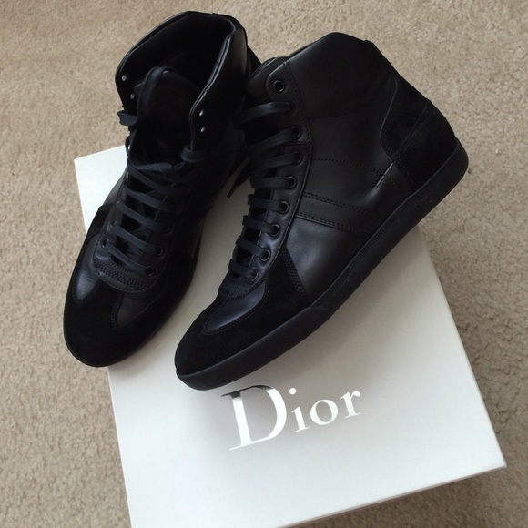 Christian Dior Shoes | Men High Top Sneakers | Poshmark