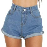 Make a perfect style with cool   high-waisted denim shorts
