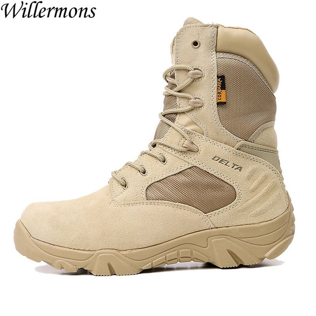 US Force Delta Men's Outdoor Breathable Suede Military Hiking Boots