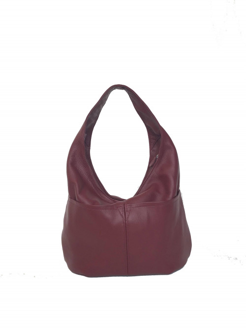 Slouchy Leather Hobo Bag w Pockets, Hobo Purses, Women Handbags, Aly