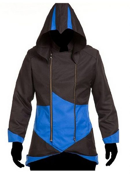 Assassin's Creed III Black and Blue Hoodie Jacket