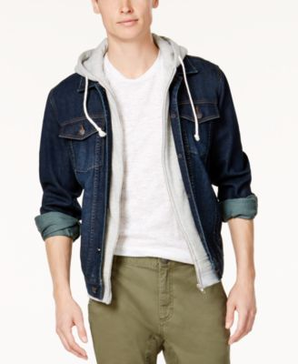American Rag Men's Hooded Denim Jacket, Created for Macy's - Coats