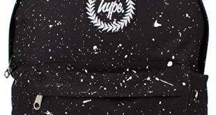 Hype Backpack Rucksack Shoulder Bag - Black with White Speckle - for