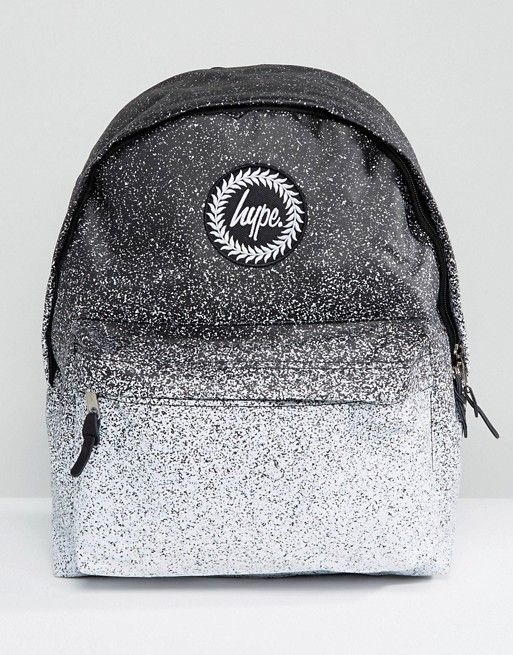 Hype Monochrome Speckle Fade Backpack | Bagggg Obsession u003c3 | Hype