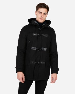 Wool-blend Toggle Water-resistant Jacket | Express
