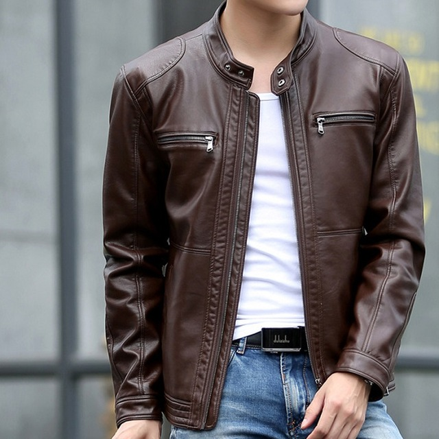 Casual Dark Brown Mens Leather Jacket - The Leather Makers