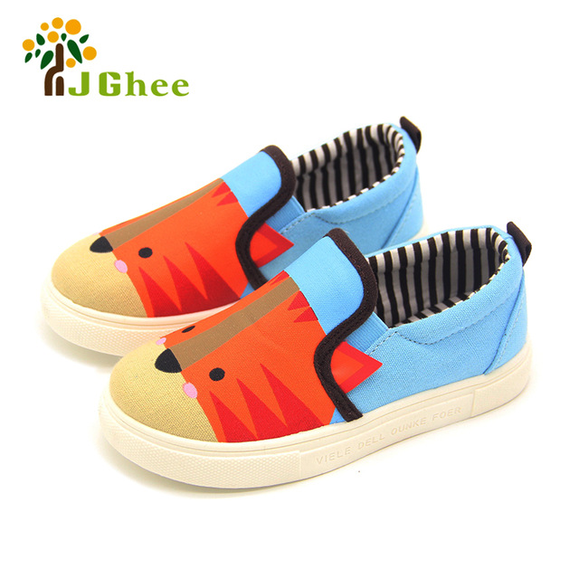 Kids Shoes Boys Girls Cartoon Design Canvas Children Sneakers Casual
