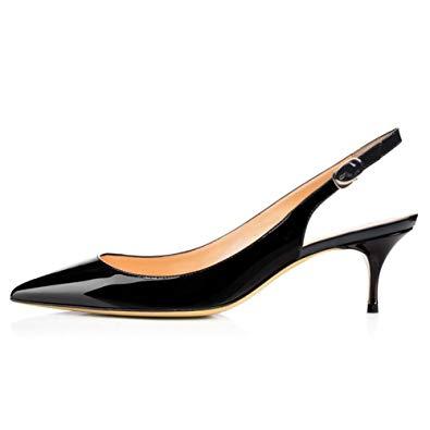 Trendy and elegant kitten heel   shoes
