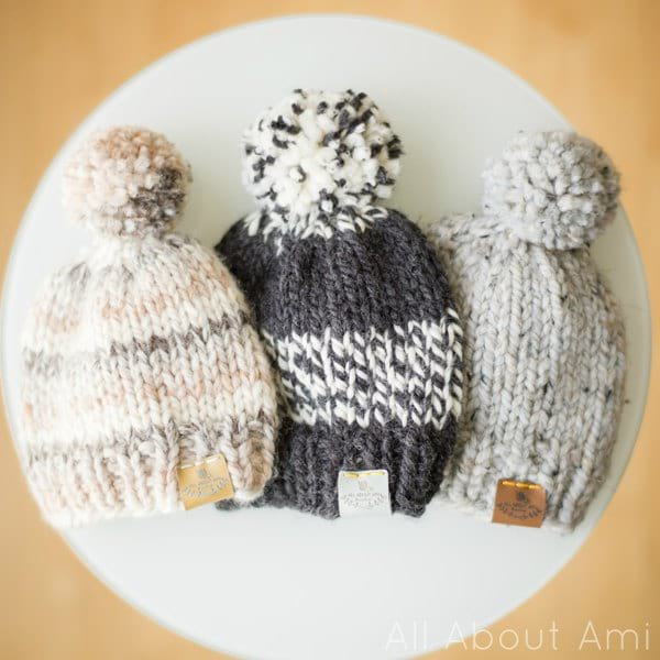 Basic Knitted Baby Hat - All About Ami
