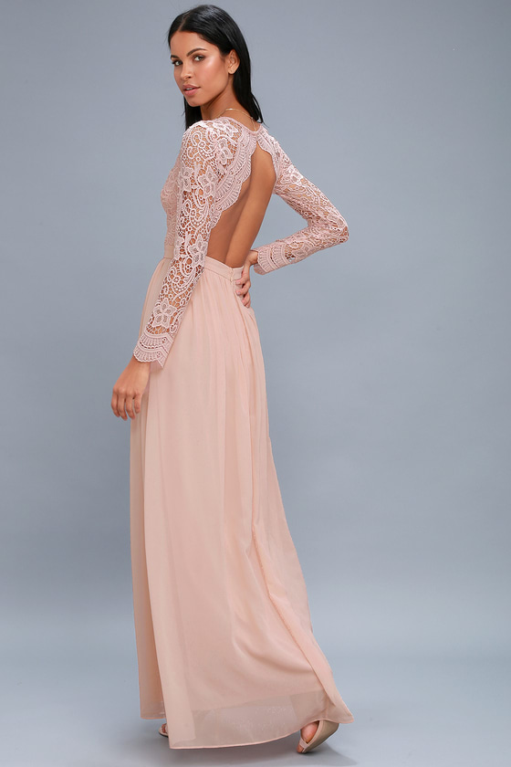 Different stunning patterns of   lace long dress